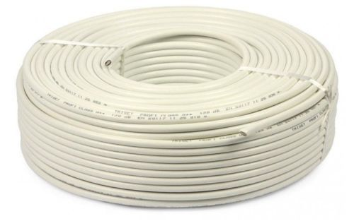 White Shielding Type: Shielded CCTV Cables, Cable Size: 90 Mtr