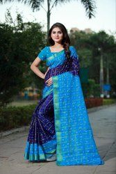 Textile Mall Presents New Bandhani Checks Art Silk Saree Catalog Collection