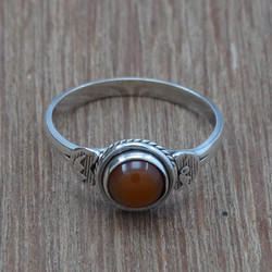 Handmade Jewelry Red Onyx Gemstone 925 Sterling Silver Ring