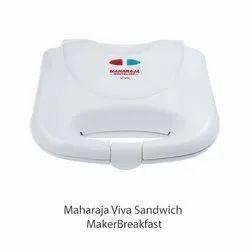 White Maharaja Viva Sandwich Maker, Voltage: 220-240 V, Power: 750 Watt