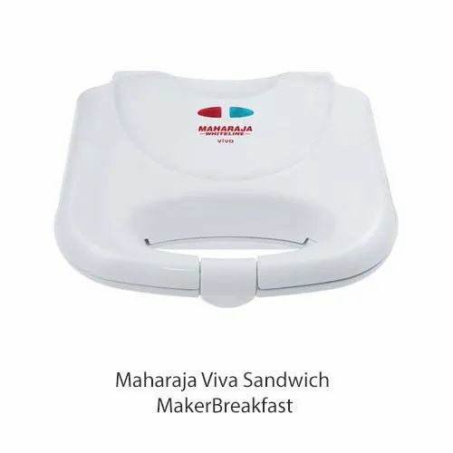 White Maharaja Viva Sandwich Maker, Voltage: 220-240 V, Power: 750 Watt
