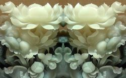 PVC 3D Marble Imitation - White Lotus