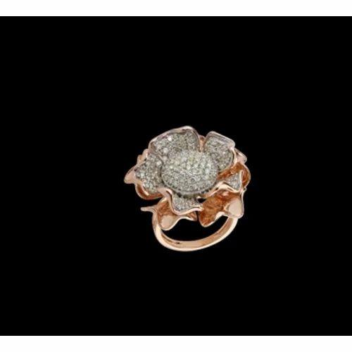Hiraco CVD Gold Diamond Ring