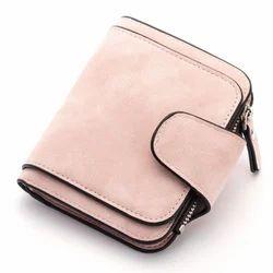 Multicolor SAM International Lady Scrub Leather Wallet Purse