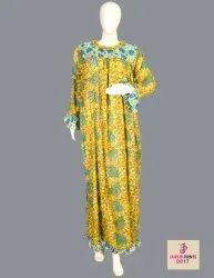 10 Cotton Hand Printed Women's Long Dress India DB17