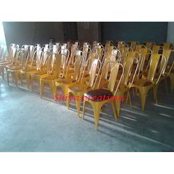 Shiva Creations Paint Coated Metal Cafeteria Chair, Seating Capacity: 1