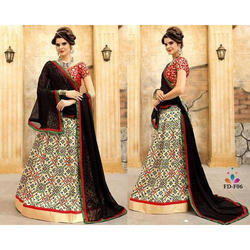 Ladies Jacquard Silk Gota Work Lehenga, Size: S, M & L