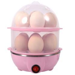 DeoDap Multi-Function 2 Layer Electric Food and 14 Egg Cooker Boilers & Steamer/Egg Poacher/Home Mac