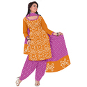 Bandhani Yellow Print Suit