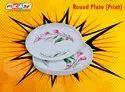 Round White Plastic Plate, Size: 8 Inch