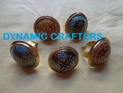 Designer Brass Meena Rings