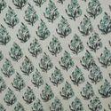 Cotton Voile Floral Block Print Fabric