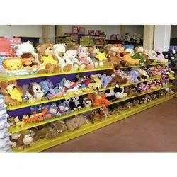 Wooden Wall Mounted Or Free Standing Display Rack For Toys, Model Name/Number: BM002