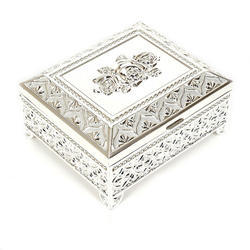 Silver White Metal Imported Jewellery Box