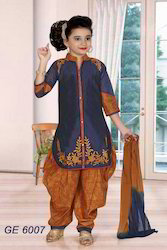 Designer Front Embroidered Suit