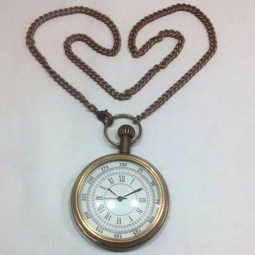 Round Brown Nautical Antique Brass Titanic Pocket Watch