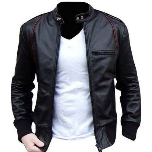8c5577d8a6 Black Leather Men s Jacket at Rs 600 piece
