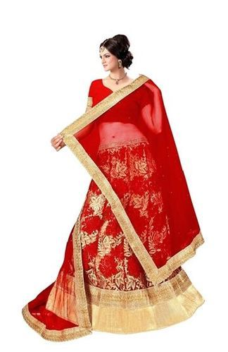 110fad8a33754 Brown And Red Brown Colored Lehenga