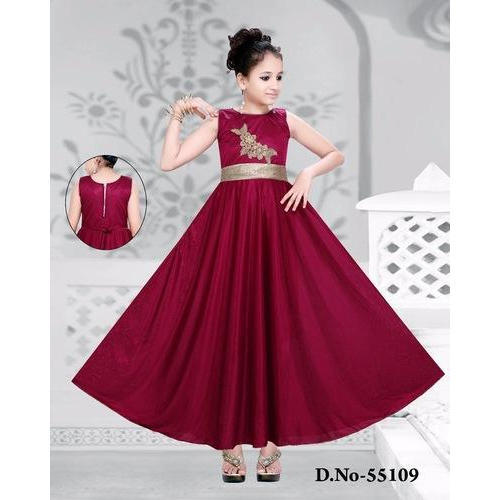Cotton Party Wear Red Baby Long Frock 15887f8e2138