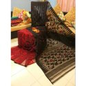 Party Wear Printed Jamdani Silk Saree, 6 M (with Blouse Piece)
