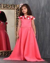 Kids Floral Embellished Gown