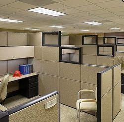 Office Partition - Modular Aluminium Partition 75mm , Tile Base