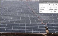 25MW Solar Power Plant
