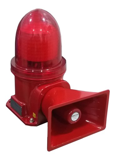 INDUSTRIAL HOOTER WITH FLASHING LIGHT