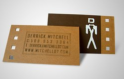 Rectangular Wooden Laser Cut Visiting Card