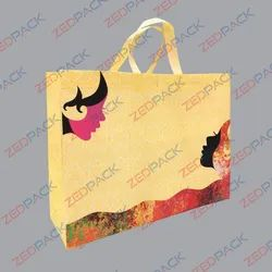 Handled Loop Handle Printed Non Woven Bags For Shopping