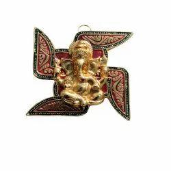 Brass Swastik Ganesha Wall Hanging