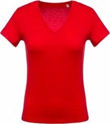 Ladies Plain Cotton T-Shirt