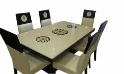 Dining Table Set with Composite Marble Top