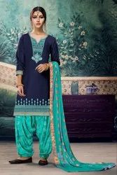 Embroidery Work Patiyala Suit