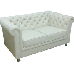 Leatherete White Sofa