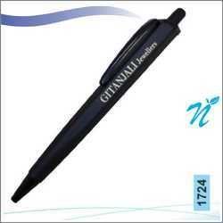 Plastic Hexagonal Full Black Ball Pen