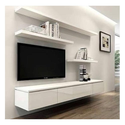 Tv möbel modern  White Modern TV Rack, Rs 600 /square feet, Purport Furniture Mall ...