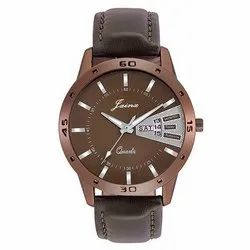 Jainx Brown Dial Day and Date Analog Watch for Men's & Boys JM289