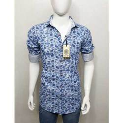 Men Cotton Full Sleeves Printed Shirt