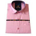 Mens Pink Checked Shirt