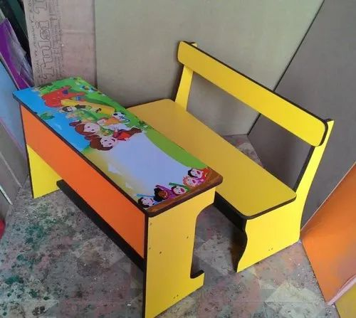 Alacrity Yellow Pre Laminated MDF Desk and Bench