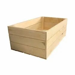 Light Weight Rectangle Wooden Packaging Pallet Box, For Storage, Capacity: 50 - 80 Kg