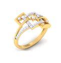 Designer Diamond Rings 3.66 Grams, Packaging Type: Box