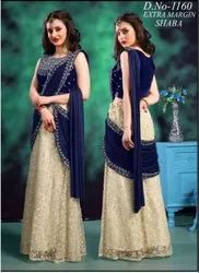 Women Blue & Yellow Ready to Wear Saree