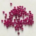 Natural Burma Ruby Stone Caliberated Flatback Smooth Round Cabochon