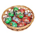 Hand Painted Green Floral Wooden Easter Decoration Gifting Eggs 2020