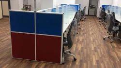 Glass , Aluminium Any Color Modular Office Workstation