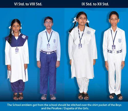 1879e847355d Multi Cotton India High School Uniforms, Rs 250 /piece, Cheap Shop ...