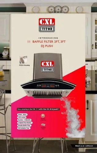 Stainless Steel CXL Titon 11 Baffle Filter Kitchen Chimney