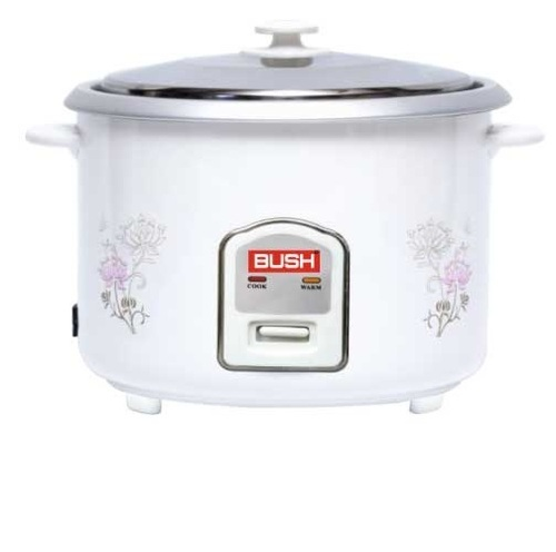 Double Body Capacity(Litre): 1,8 Bush Electric Rice Cooker (White), 800, Warranty: 1 Year